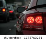 Bright Red Tail Lights Braking...