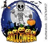 halloween design template with...   Shutterstock .eps vector #1176764917