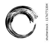 vector hand drawn circle. black ... | Shutterstock .eps vector #1176771304