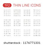 set of thin line icons... | Shutterstock .eps vector #1176771331