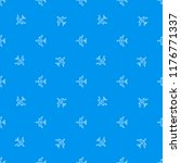 seamless airplane pattern.... | Shutterstock .eps vector #1176771337
