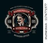vintage barbershop sign | Shutterstock .eps vector #1176771577
