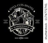 barbershop logo template | Shutterstock .eps vector #1176772741