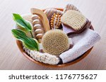 brushes for dry body massage | Shutterstock . vector #1176775627