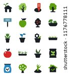 color and black flat icon set   ... | Shutterstock .eps vector #1176778111