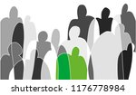 black and white sketch on theme ... | Shutterstock .eps vector #1176778984