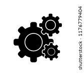 vector icon for settings | Shutterstock .eps vector #1176779404