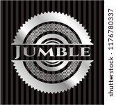 jumble silvery emblem   Shutterstock .eps vector #1176780337