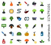 colored vector icon set   field ... | Shutterstock .eps vector #1176791101