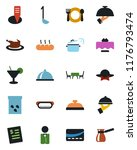 color and black flat icon set   ... | Shutterstock .eps vector #1176793474
