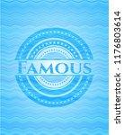 famous water concept badge. | Shutterstock .eps vector #1176803614