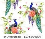 vector seamless  floral summer... | Shutterstock .eps vector #1176804007