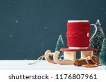 christmas card with place for... | Shutterstock . vector #1176807961