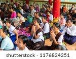bago myanmar august 19 2018... | Shutterstock . vector #1176824251