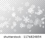 snow flakes falling macro... | Shutterstock .eps vector #1176824854