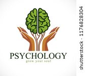 mental health and psychology... | Shutterstock .eps vector #1176828304