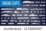 snow drift vector. snowballs ... | Shutterstock .eps vector #1176830407