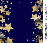vertical border from confetti... | Shutterstock .eps vector #1176834274