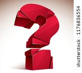 broken question mark exploding  ... | Shutterstock .eps vector #1176836554