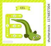letter e uppercase cute... | Shutterstock .eps vector #1176837304