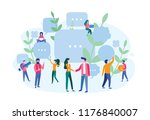 human resources  recruitment... | Shutterstock .eps vector #1176840007