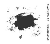 ink brush strokes with rough... | Shutterstock .eps vector #1176842941