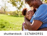 close up of granddaughter... | Shutterstock . vector #1176843931