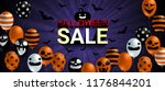 halloween sale banner with... | Shutterstock .eps vector #1176844201
