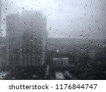 raindrop hang on glass window ... | Shutterstock . vector #1176844747