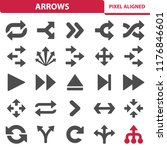 arrows icons. professional ... | Shutterstock .eps vector #1176846601