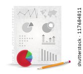 paper with graphs   vector... | Shutterstock .eps vector #117684811