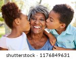 portrait of grandchildren... | Shutterstock . vector #1176849631