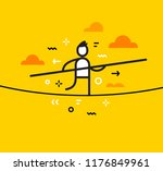 vector business illustration of ... | Shutterstock .eps vector #1176849961