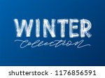 winter collection white text on ... | Shutterstock .eps vector #1176856591