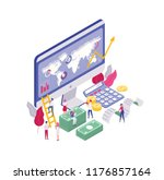 scene with tiny people walking... | Shutterstock .eps vector #1176857164