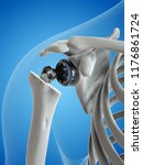 3d rendered medically accurate... | Shutterstock . vector #1176861724