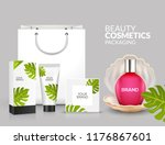 tropical cosmetic package... | Shutterstock .eps vector #1176867601
