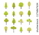 flat trees set. flat forest... | Shutterstock .eps vector #1176867634