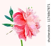 a picturesque peony flower.... | Shutterstock .eps vector #1176867871