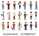 people of different professions.... | Shutterstock .eps vector #1176869167