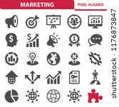 marketing icons. professional ... | Shutterstock .eps vector #1176873847