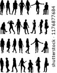 women silhouettes. large... | Shutterstock .eps vector #1176877684
