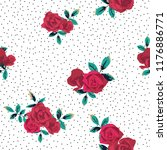 seamless pattern with flowers... | Shutterstock .eps vector #1176886771