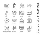 set of 16 simple line icons... | Shutterstock .eps vector #1176899881