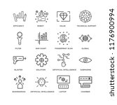 set of 16 simple line icons... | Shutterstock .eps vector #1176900994