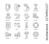 set of 16 simple line icons... | Shutterstock .eps vector #1176901117