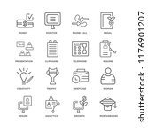 set of 16 simple line icons... | Shutterstock .eps vector #1176901207