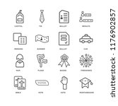 set of 16 simple line icons... | Shutterstock .eps vector #1176902857