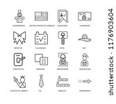 set of 16 simple line icons... | Shutterstock .eps vector #1176903604
