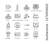 set of 16 simple line icons... | Shutterstock .eps vector #1176903631